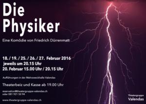 Die Physiker - Plakat Theatergruppe Valendas