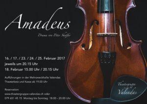 Amadeus - Plakat Theatergruppe Valendas