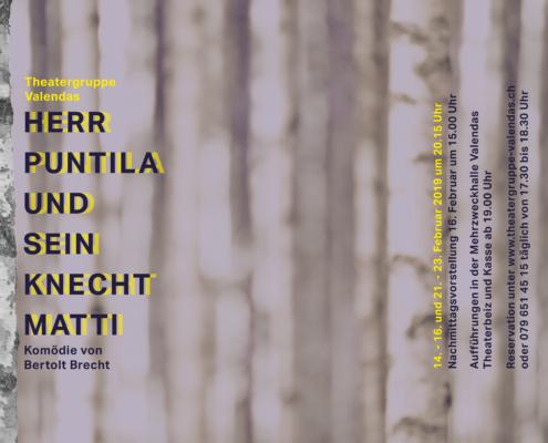 Plakat Herr Puntila und sein Knecht Matti